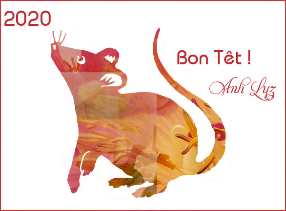 voeux année du rat/wishes for the year of the rat